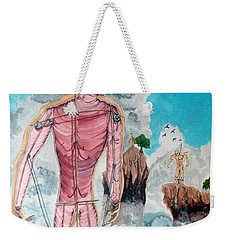 Fragiles Colossus Weekender Tote Bag by Lazaro Hurtado