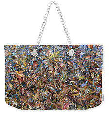 Weekender Tote Bag featuring the painting Fragmented Fall by James W Johnson