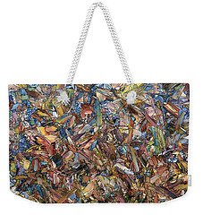 Weekender Tote Bag featuring the painting Fragmented Fall - Square by James W Johnson