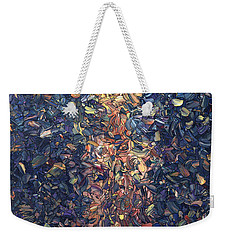 Weekender Tote Bag featuring the painting Fragmented Flame by James W Johnson