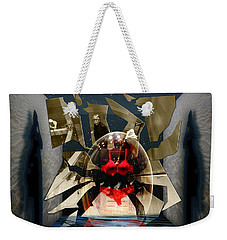 Weekender Tote Bag featuring the digital art Fragmented Passion Nest by Rosa Cobos