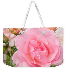 Fragrant Cloud Rose Weekender Tote Bag by Jane McIlroy
