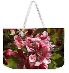 Fragrant Crab Apple Blossoms Weekender Tote Bag by Brenda Brown
