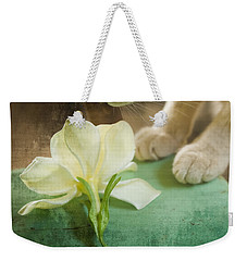 Fragrant Gardenia Weekender Tote Bag by Kim Henderson