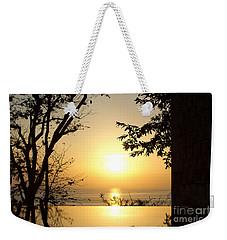 Framed Golden Sunset Weekender Tote Bag