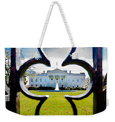 Framed Whitehouse Weekender Tote Bag by Greg Fortier