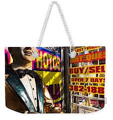 Frank Sinatra Statue, Las Vegas Weekender Tote Bag by Panoramic Images