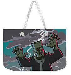 Frankenstein Creature In Storm  Weekender Tote Bag by Martin Davey
