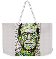 Weekender Tote Bag featuring the painting Frankenstein by Kathy Marrs Chandler