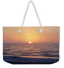 Weekender Tote Bag featuring the photograph Free As A Bird by Victor Montgomery