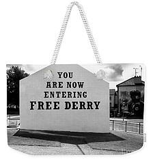 Free Derry Corner 9 Weekender Tote Bag