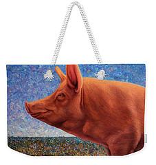 Free Range Pig Weekender Tote Bag by James W Johnson