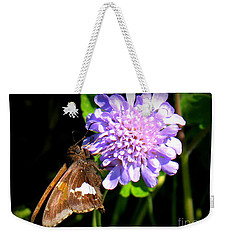 Silver Spotted Skipper Weekender Tote Bag by Patti Whitten