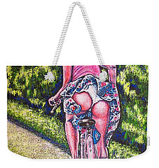 Weekender Tote Bag featuring the painting Free by Viktor Lazarev