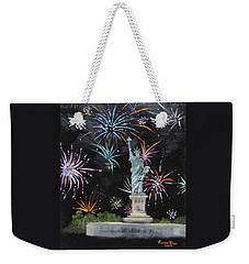 Weekender Tote Bag featuring the painting Freedom by Judith Rhue