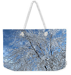 Weekender Tote Bag featuring the photograph Freezing Rain ... by Juergen Weiss