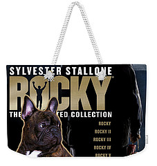French Bulldog Art - Rocky Movie Poster Weekender Tote Bag
