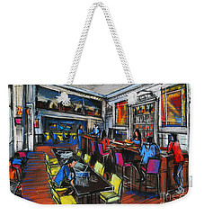 French Cafe Interior Weekender Tote Bag