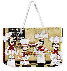 French Chefs-bon Appetit Weekender Tote Bag by Jean Plout