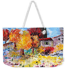 French Farm With Green Shutters Weekender Tote Bag