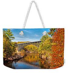 French King Bridge In Autumn Weekender Tote Bag