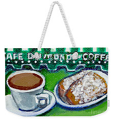 Weekender Tote Bag featuring the painting French Quarter Delight by Ecinja