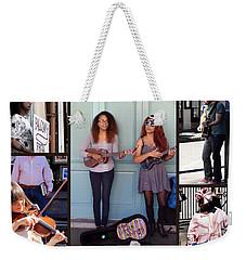 French Quarter Street Vendors Horizonal Weekender Tote Bag
