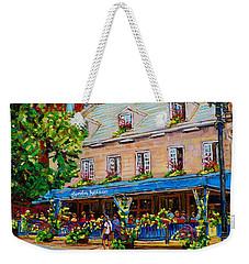 French Restaurant Jardin Nelson Paris Style Bistro Place Jacques Cartier Terrace Garden C Spandau   Weekender Tote Bag