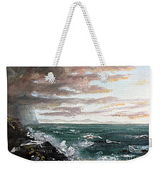 Weekender Tote Bag featuring the painting Frenchman's Bay by Lee Piper