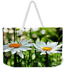 Weekender Tote Bag featuring the photograph Fresh As A Daisy by Judy Palkimas