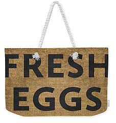 Fresh Eggs Weekender Tote Bag