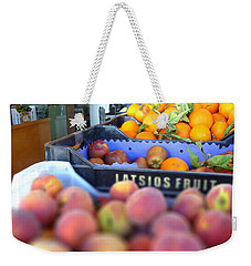 Weekender Tote Bag featuring the photograph Fresh Fruit by Vicki Spindler