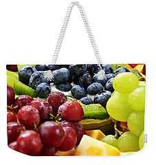 Fresh Fruits And Cheese Weekender Tote Bag