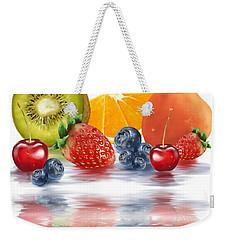 Fresh Fruits Weekender Tote Bag by Veronica Minozzi