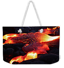 Fresh Lava Flow Weekender Tote Bag by Venetia Featherstone-Witty