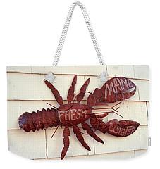 Fresh Maine Lobster Sign Boothbay Harbor Maine Weekender Tote Bag