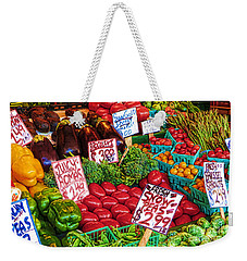 Fresh Market Vegetables Weekender Tote Bag