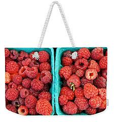 Fresh Raspberries Weekender Tote Bag
