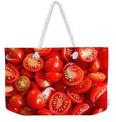 Fresh Red Tomatoes Weekender Tote Bag by Amanda Stadther