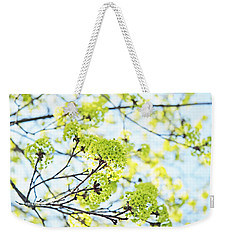 Weekender Tote Bag featuring the photograph Fresh Spring Green Buds by Brooke T Ryan