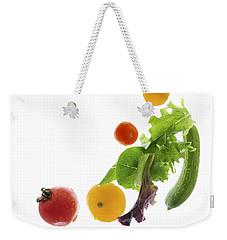 Fresh Vegetables Flying Weekender Tote Bag by Elena Elisseeva