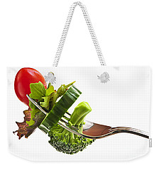 Fresh Vegetables On A Fork Weekender Tote Bag by Elena Elisseeva