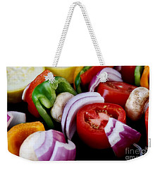Fresh Veggie Kabobs On The Grill Weekender Tote Bag