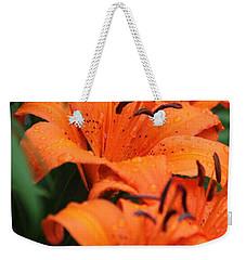 Freshly Showered Tiger Lilys Weekender Tote Bag