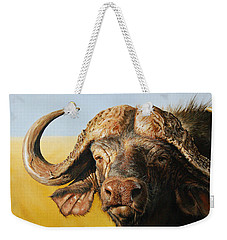 African Buffalo Weekender Tote Bag by Mario Pichler