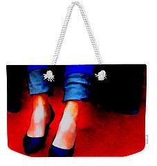 Weekender Tote Bag featuring the photograph Friday Wear by Lisa Kaiser