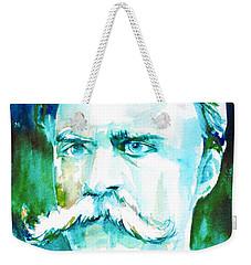 Friedrich Nietzsche Watercolor Portrait.1 Weekender Tote Bag