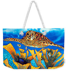 Friendly Hawksbill Sea Turtle Weekender Tote Bag