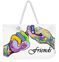 Friends . . . An American Sign Language Painting Weekender Tote Bag