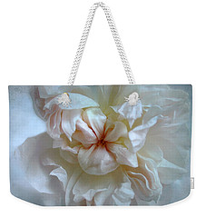 Weekender Tote Bag featuring the photograph Friendship Is The Breathing Rose by Louise Kumpf